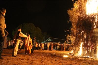 12月-1月:多久聖廟お火たき