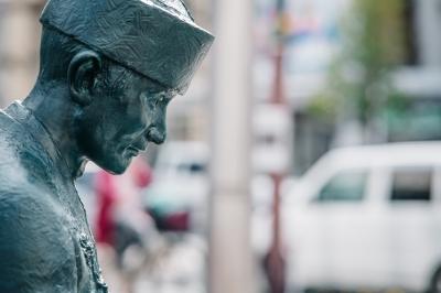 偉人モニュメント(SPOT6)明治時代を代表する書家 中林梧竹