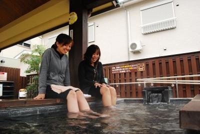 湯宿広場「足湯・足蒸し湯」