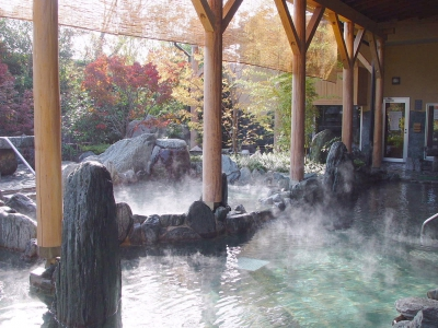 You can also enjoy 13 different kinds of hot springs and saunas. 