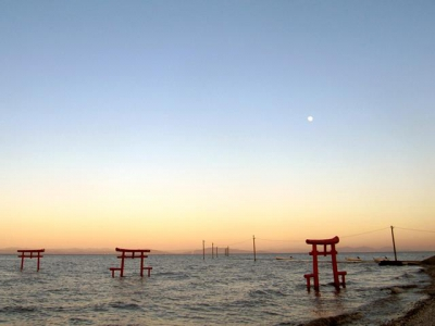 Torii in The Ariake Sea (Oouo Shrine)