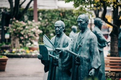 Monument of Great Figure (SPOT1)  The ruler of virtue, Nabeshima Naomasa and the wise men who supported him Nabeshima Naomasa/ Koga Kokudo/ Nabeshima Shigeyoshi