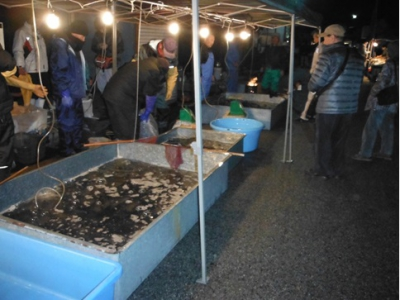 Held every year during New Year's holidays, this traditional market has a history of over 300 years. People buy edible Crucian carp (Funa) here to serve it to the gods as New Year's offering.