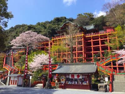 This shrine is one of Japan's three largest Inari Shrines (Sandai Inari) together with Fushimi Inari Shrine and Kasama Inari Shrine. The bright vermilion color of the monument is very impressive, and major monuments such as the shrine, the worship hall, the tower gate, etc. are lacquered. Cherry blossoms and Taiwan cherry blossoms in the outer garden are the spring traditions.
