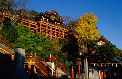 Yutoku Inari Shrine is one of Japan's three largest Inari Shrines (Sandai Inari). In autumn, red leaves not only dye the precincts in red, but also bring a different color to the Japanese garden.