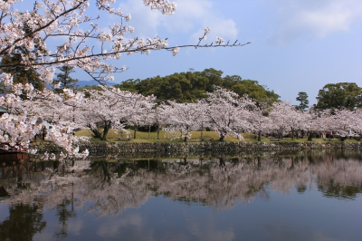 This is a famous park set up by Motoshige Nabeshima who was the 1st lord of the Ogi Clan, and the 2nd lord Naoyoshi Nabeshima.