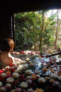 Established in 1902, we have been serving the guests who enjoy the hot springs in this area. We've been making efforts to make our place unique and become a place where you can enjoy Furuyu Hot Springs with some purposes such as aesthetic spa, shochu-bar, cafe, sake-cask bath, rose bath and so on. You may also enjoy the four seasons and we are doing our best to offer you the best of Saga and Furuyu such as Saga Wagyu Beef and the local sake.